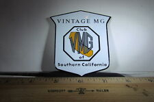 Vintage MG Club Of Southern California Grill Emblem