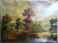Buckeye Painting 19th C. Itinerant Unsigned Lovely but Needs Cleaning & Repair