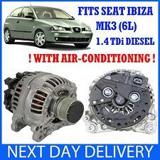 SEAT IBIZA MK3 6L 1.4 TDi DIESEL 2002-2008 NEW 120A ALTERNATOR (WITH AIR-CON!)