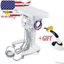 Dental Portable Mobile Delivery Unit Cart Suction No Air Compressor Curing Light