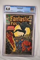 Fantastic Four #52 Black Panther Comic Marvel Silver Age Major Key CGC 4.0