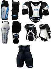 Junior Large Equipment Pants Gloves Shin Elbow Shoulder Ice Hockey Starter Set