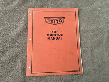 "Taito 19"" Monitor Manual"
