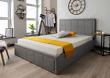 Grey Ottoman Storage Gas Lift Bed + Memory Foam Mattress, 4FT6 Double & 5FT King