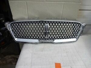 2017-2019 LINCOLN MKZ FRONT CHROME/SILVER COMPLETE GRILLE GRILL NICE OEM
