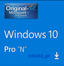 "10 PRO ""N""  Win- KEY/CLAVE LICENCIA/LICENCE 100% ORIGINAL 32/64 Multilenguaje"