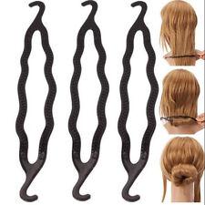 Moda 3 X Hair Twist Estilo Clip Stick Bun Maker Trenza herramienta Accesorios Para El Cabello