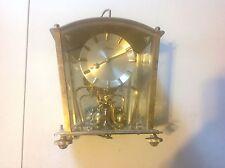 Vintage Kern Brass  400 Day Anniversary Mantle Clock - German