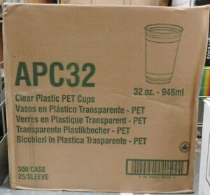 Clear Plastic PET Cup  32oz / 946ml 300 Units APC32 Inc VAT