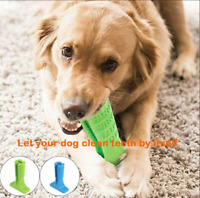 Dog Toothbrush Toy Clean Teeth Brushing Stick Pet Brush Mouth Chewing Clean GIFT
