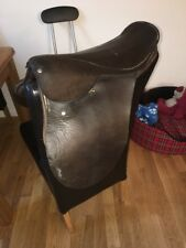 14 Inch Brown English Leather Show Saddle Medium Width