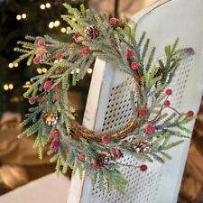 "Mountain Pine with Berries 20"" Winter Wreath"