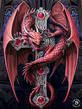 ANNE STOKES 3D LENTICULAR FANTASY MINI PRINTS POST CARD SIZE -  GOTHIC GUARDIAN
