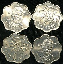 Swaziland 10 Cents 1974-1998 KM#10 KM#23 KM#41 (T32)