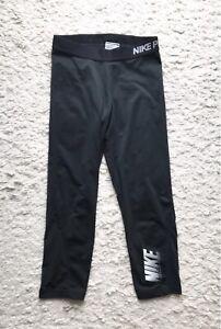 Leggings Nike Pro 3/4 Capri Jogginghose Tight Running Laufhose Schwarz Grau M