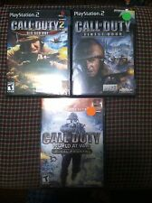 3 games Call of duty World at war + big red one + finest hour PlayStation 2