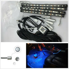 12V 5 Pcs 5050RGB LED Decor Neon With Foot Lamp Fiber Optical Strip Light BT APP