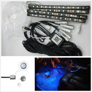 12V 5 Pcs 5050RGB LED Decor Neon With Foot Lamp Fiber Optical Strip Light BT APP