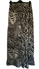 Sweewe Paris Maxi Skirt Uk M/L Animal Print Leopard Long Elastic Waistband