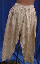 Vintage Edwardian Pantaloons BLOOMERS Split CrotchTAN XS Cotton Antique embroide