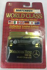 1990 Matchbox World Class Mercedes 500 SL World Class #21. New.