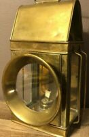 Shined Brass Vintage Solid Brass Automobile Kerosene Lantern