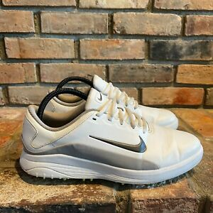 Nike Mens Vapor AQ2302-101 Lace Up Low Top White Gray Golf Shoes Size US 9.5