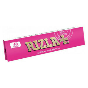 Rizla Micron Pink Edition King Size Genuine Thin Rolling Papers Original