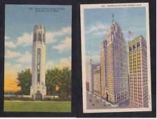 Vintage Postcard Lot MI-DETROIT Belle Isle Nancy Brown Peace Carillon, Penobscot