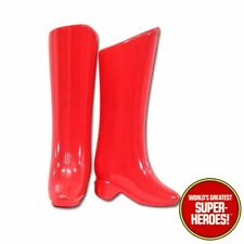 Mego Supergirl Wonder Woman Red Boots For 8� Action Figure Wgsh Custom Parts Lot