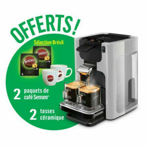 PHILIPS Senseo Quadrante Machine café dosette +2 paquets de café+2 tasses offert
