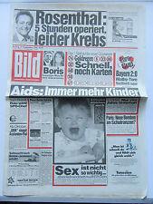 Bild Zeitung 19.9.1986, Rosenthal, zum 30. Geburtstag