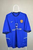 MANCHESTER UNITED Third 2002-2003 NIKE FOOTBALL SHIRT Jersey Soccer Sz XL