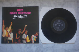 UZEB DIDIER LOCKWOOD ABSOLUTELY LIVE LP 1986 VALEUR + JAZZ FUSION