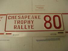 Chesapeake Trophy Rallye 80 Booster Front License Plate Topper MD Porsche Meetup