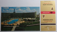 1960'S POSTCARD & MATCHBOOK COMBO LAS VEGAS NV THE FRONTIER HOTEL #1