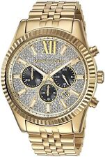 MICHAEL KORS NEW MK8494 Gold Tone Lexington Chronograph Men's Wrist Watch
