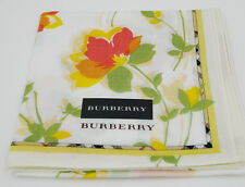 BURBERRY short scarf/ handkerchief  ~ Japan-Made licensed dark yellow flowers