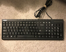 Acer Aspire Keyboard External USB SK9621 Gaming Genuine Product Computer Wired!!