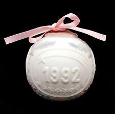 Lladro Hand Painted Porcelain Annual Christmas Ball Ornament 1992 L5914M - C0197