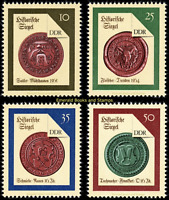 EBS East Germany DDR 1988 - Historical Seals (II) set - Michel 3156-3159 MNH**