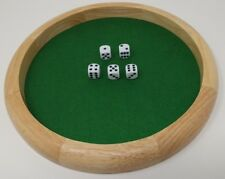 Wood Dice Tray 11.5 inch diameter