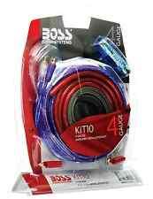 BOSS Audio Kit 4 Gauge Amp Amplifier Install Wiring Power Sub Car Subwoofer Kit