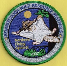 """Pa Pennsylvania Fish Game Commission 2007 Wrcf Northern Flying Squirrel 4"""" Patch"""