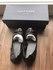 NIB Cole Haan Jenni Buckle Ballet Flat Patent Leather 6 Black