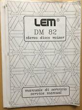 DM 82  LEM Schaltbild Schematic Diagrams Service Manual Generalmusic GEM NEU