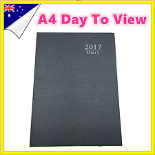 Black 2017 - 2018 Diary A4 DAY To View Personal Organiser Appointment