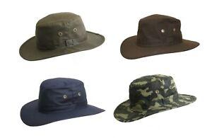 Brand New Men's Wax Cotton Waterproof Outdoor Fishing Walking Bush Aussie Hat