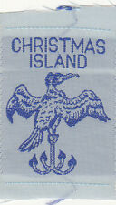 Boy Scout Badge 1950`s ribbon CHRISTMAS ISLAND