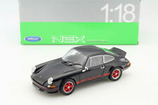 WELLY 1/18 1973 PORSCHE 911 CARRERA RS DIECAST CAR BLACK 18044W-BK